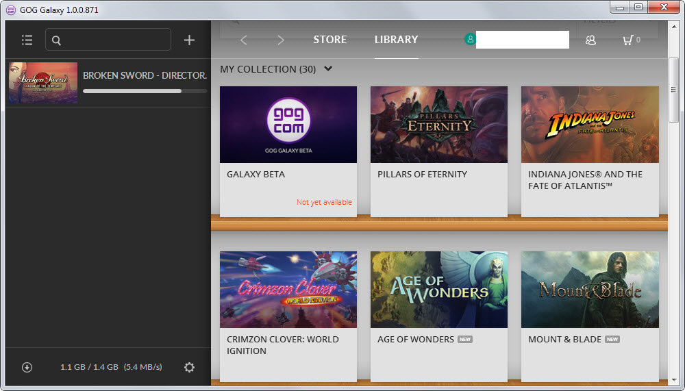 gog galaxy current version