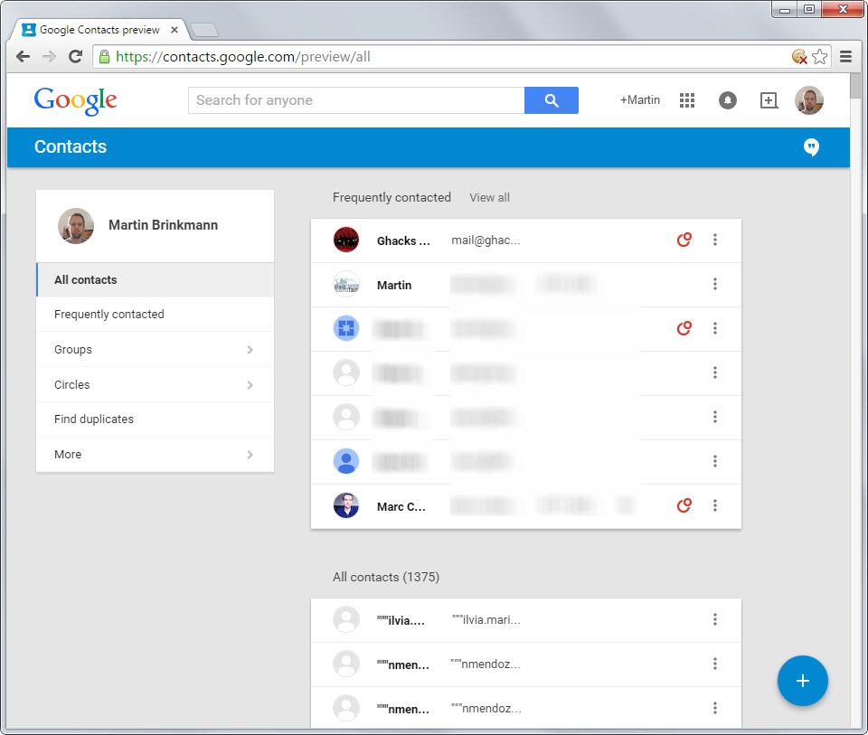 How To Preview And Leave The New Google Contacts