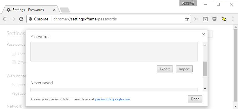 Google Chrome: password export and import | ComTek Computer