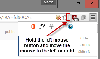 How to hide extension icons in Google Chrome's toolbar