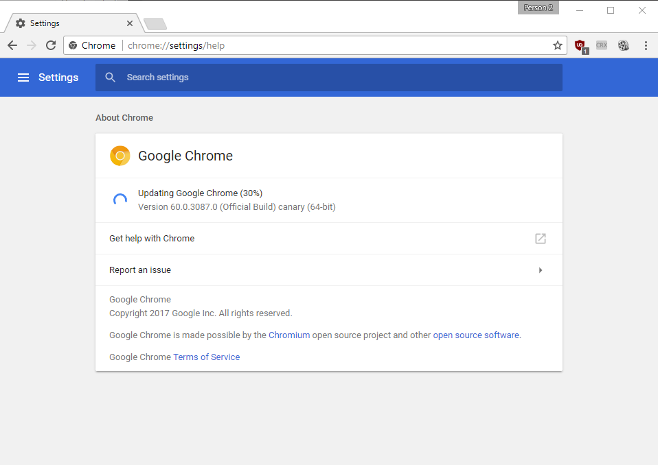 Google service are updating