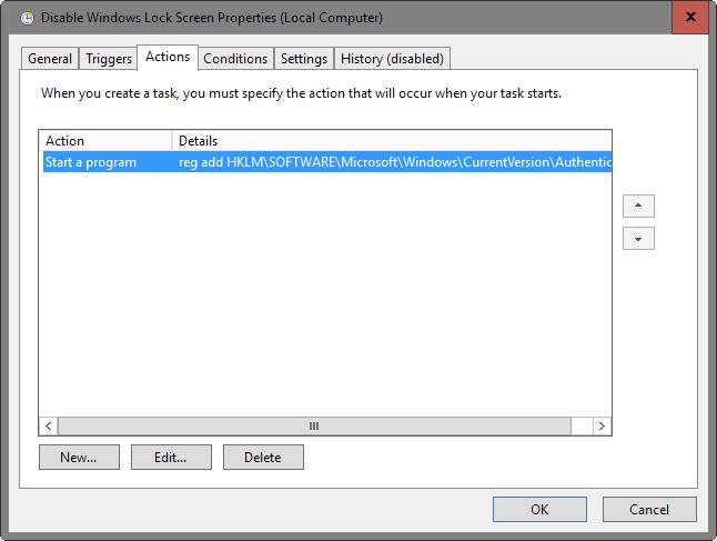 Disable the Windows 10 Lock Screen (Anniversary Update