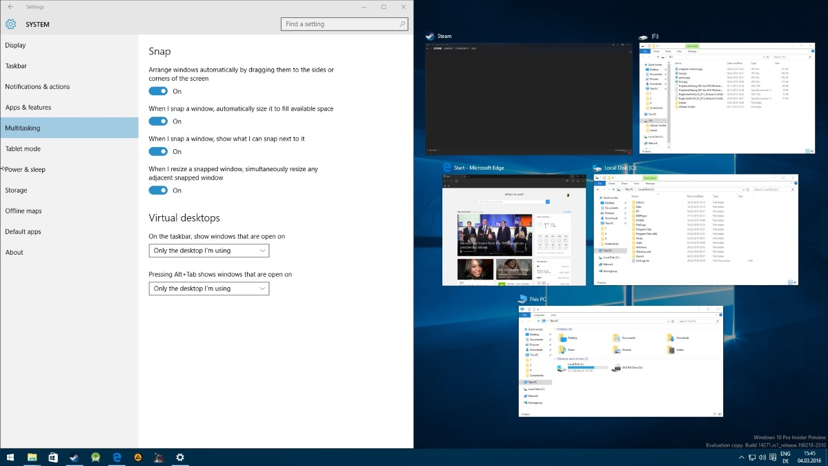 Manage Snap functionality in Windows 10   ComTek Computer