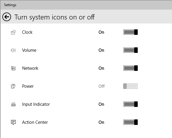 Manage and display System Tray Icons in Windows 10 | ComTek